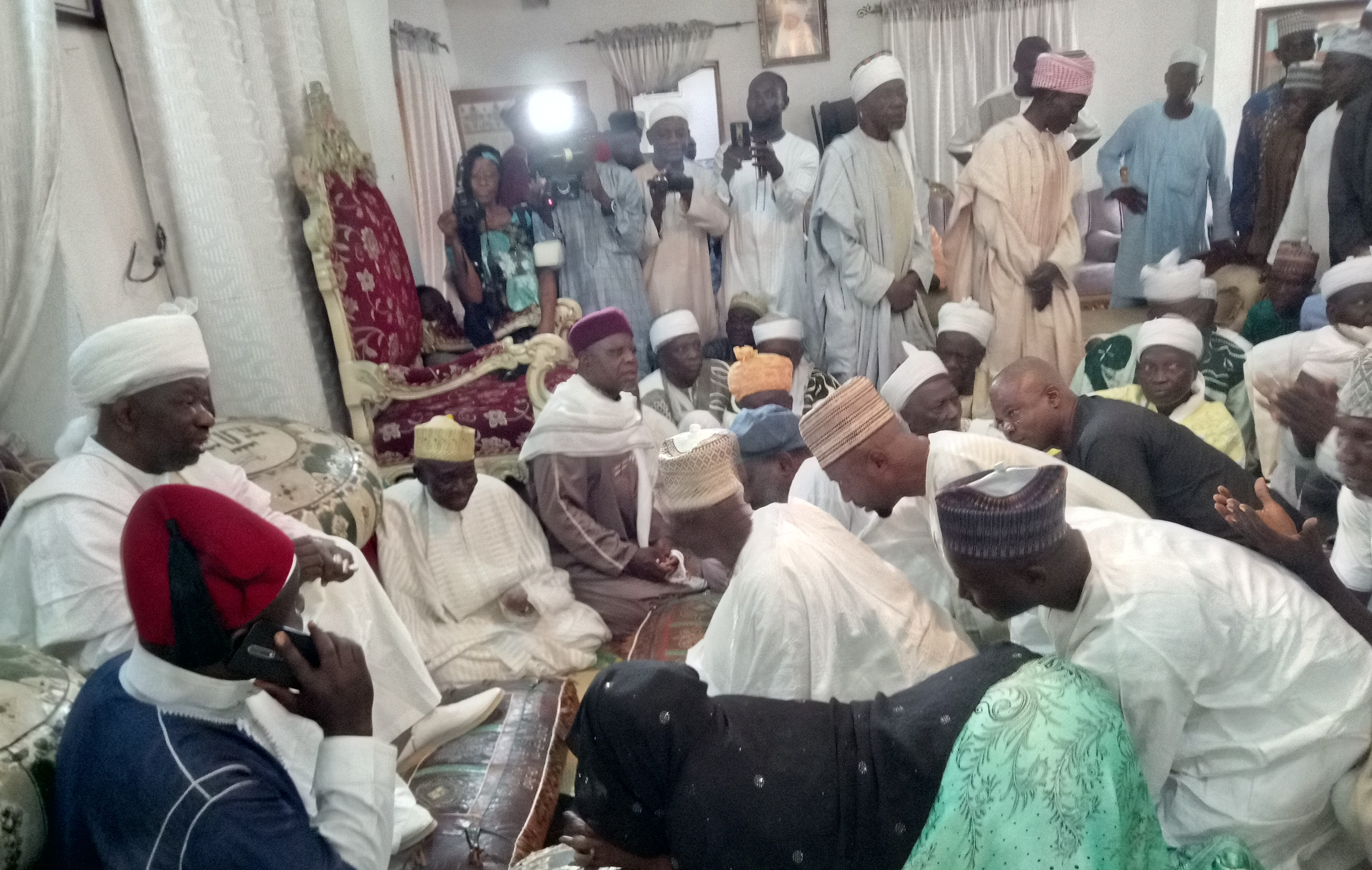 Akanbi family commiserates with Emir over mother's death